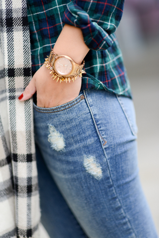 Sharing My Sole - Plaid and Distressed Denim
